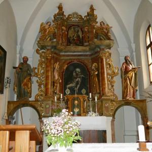 """Hauptaltar in der """"Kirche der schmerzhaften Gottesmutter"""""""
