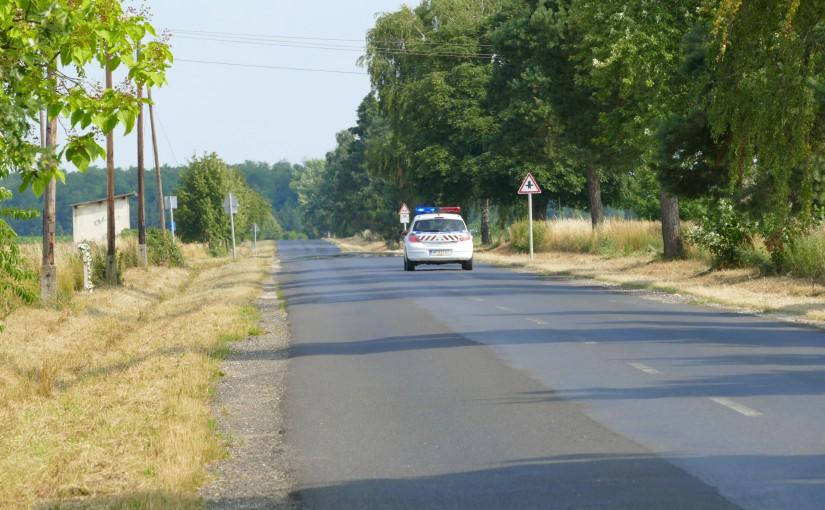Polizeifahrzeug bei Lenti